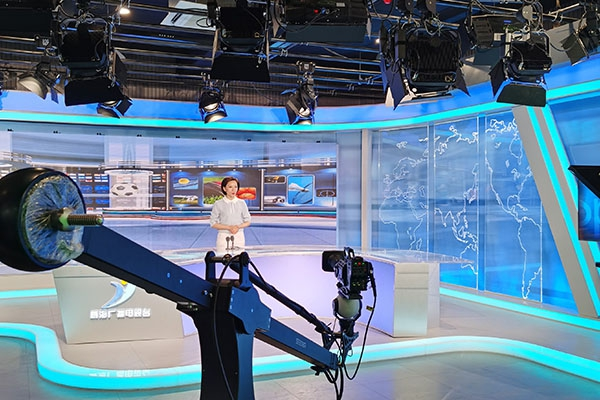SEEDER ROBOTIC CRANE USED IN WEIHAI TV STATION